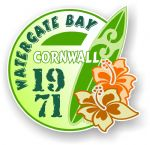 Cornwall Watergate Bay 1971 Surfer Surfing Design Vinyl Car sticker decal 97x95mm